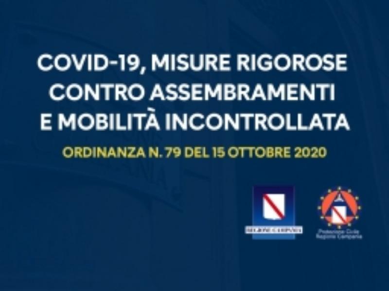 Il Presidente della Regione Campania Vincenzo De Luca ha firmato l'ordinanza n. 79 del 15 ottobre  [..]