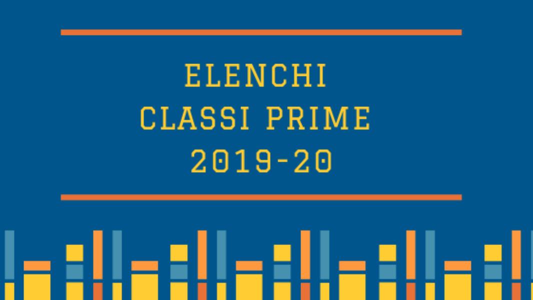 elenco classi prime 2019/2020