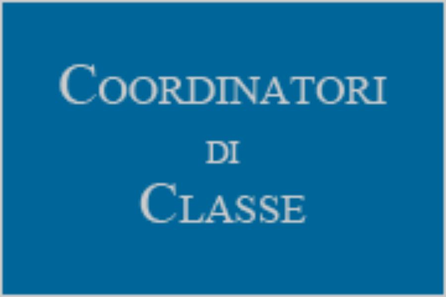 Elenco Docenti Coordinatori di Classe a.s.  2017/2018